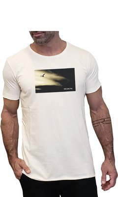 T-Shirt ROKN Reative Off White a Fio Seagull