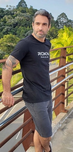 Camiseta ROKN Reative Preto Stamp