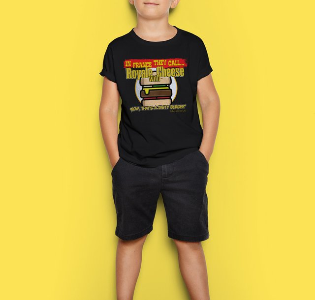 Camiseta Infantil Royale com Queijo Pulp Fiction