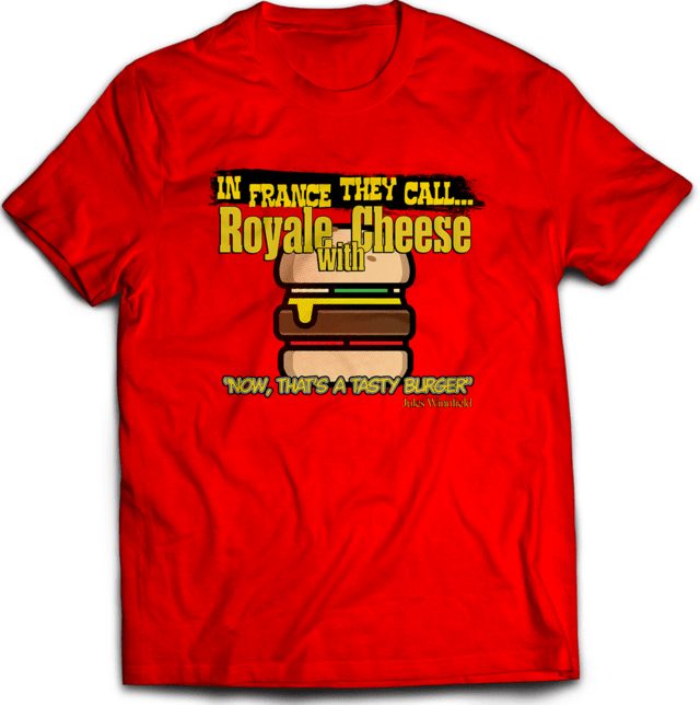 Camiseta Pulp Fiction Royale Com Cheese