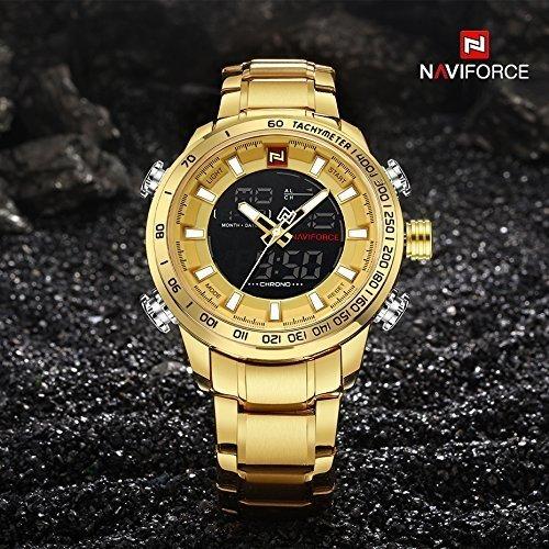 6fc8a832975e2 Relógio Naviforce 9093 Dourado Masculino Aço Inoxidável - comprar online ...