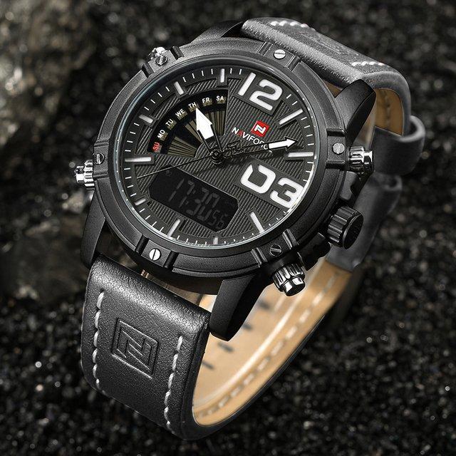 d6822e505a4 Relógio de Pulso Masculino Naviforce Analógico Digital Couro NF9095 -  comprar online ...