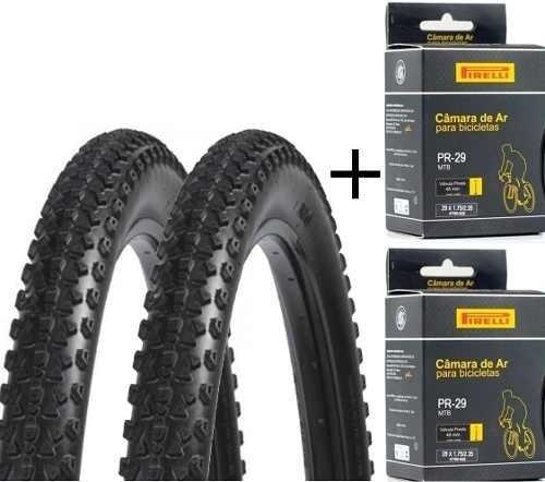 51b64a082 Kit Mtb Par De Pneus Dsi 29 2.10 Com Câmaras De Ar Pirelli