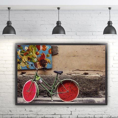 Quadro Decorativo Bicicleta Antiga