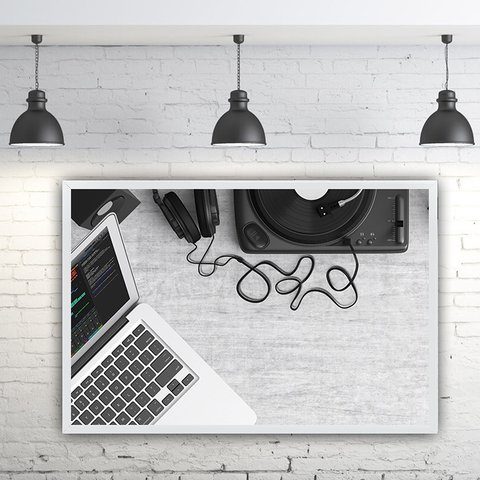 Quadro Decorativo Macbook
