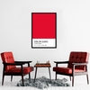 Quadro Decorativo Cores, Crimson Red