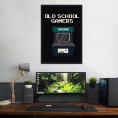 Quadro Decorativo Arcade Old School Gamer