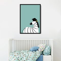 Quadro Decorativo Infantil Cartoon, Zebra