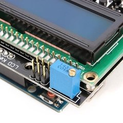 Shield Display LCD Shield 1602 Azul + Botones - Unibot
