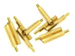 Pack X10 Separadores Hexagonales Bronce M3 25mm
