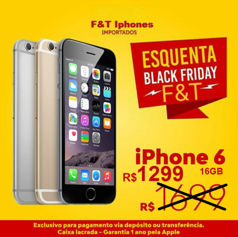 "f014836c8 iPhone 6 Apple com Tela 4,7"" HD, 16GB, iOS 8,"