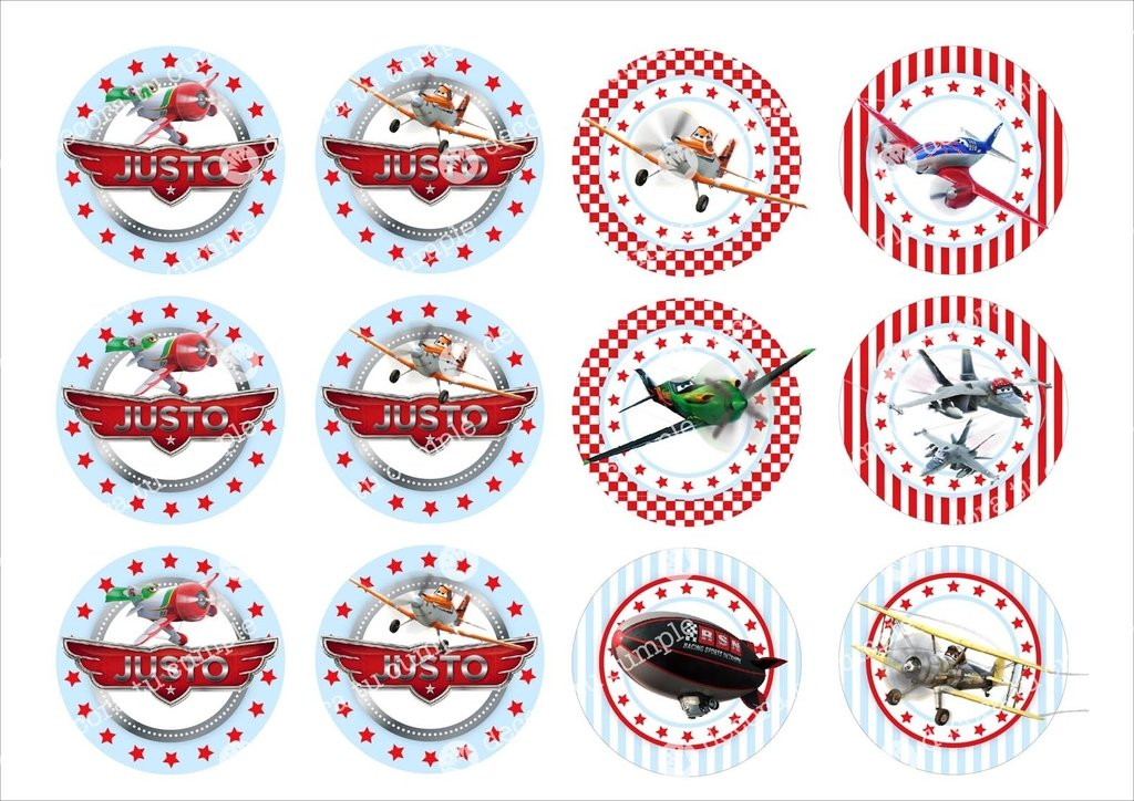 Kit Imprimible Aviones Disney - decora tu cumple