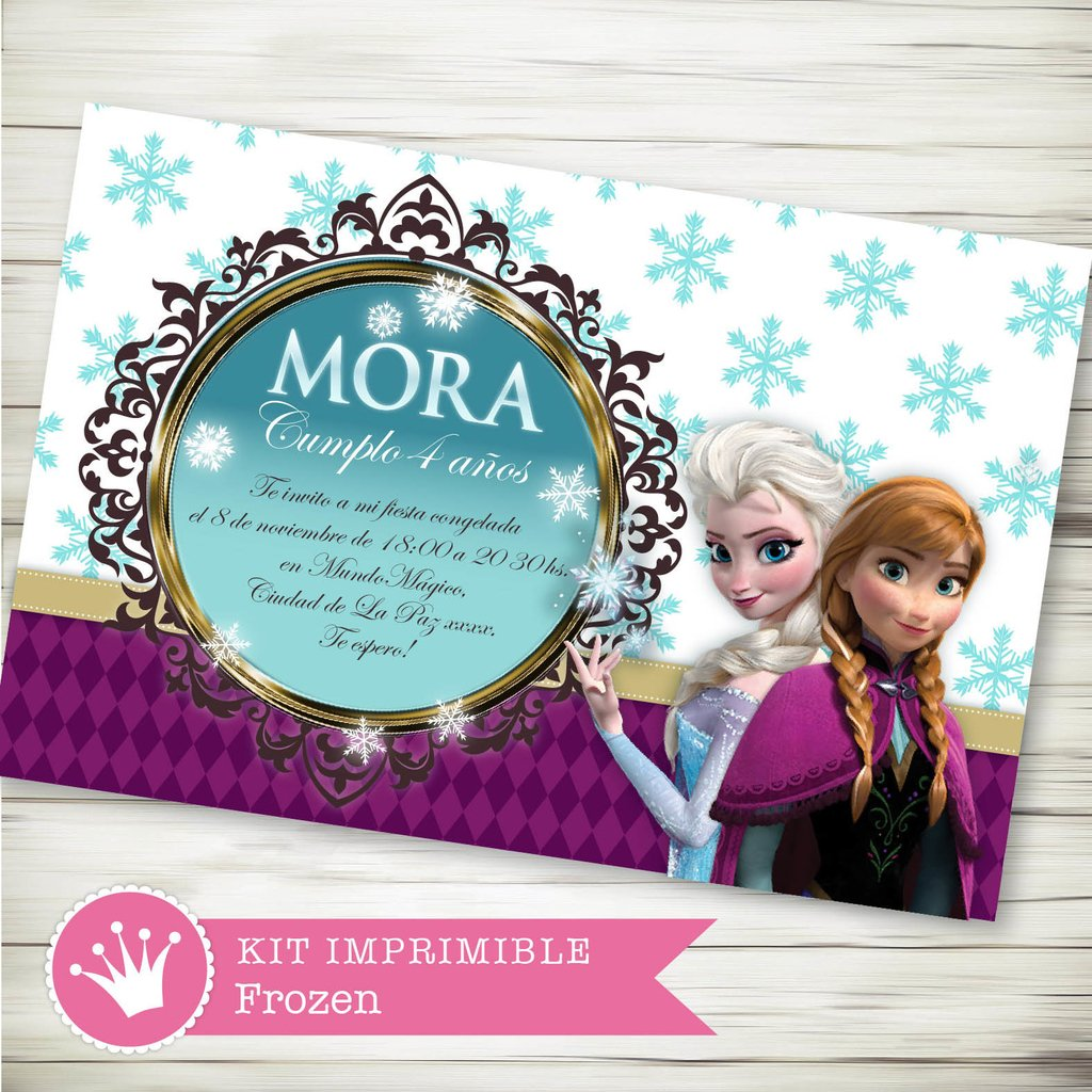 Kit Imprimible Frozen Disney - decora tu cumple