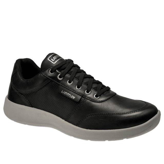 C400 COURO VEGETAL TOP BLACK SAPATENIS URBAN SPORTS