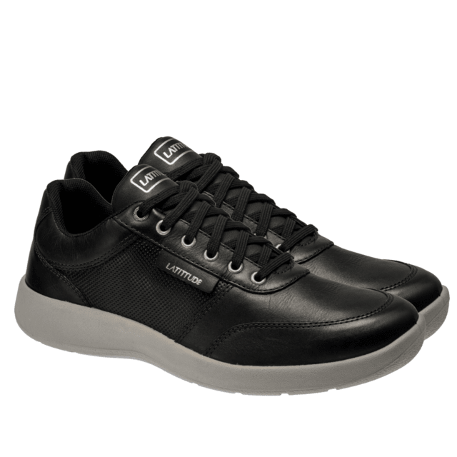 C400 COURO VEGETAL TOP BLACK SAPATENIS URBAN SPORTS - comprar online