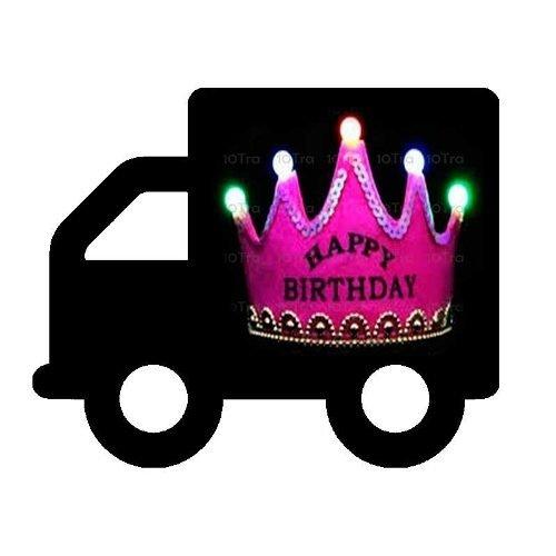 Vincha Corona Led Happy Birthday Cotillon Luminoso 15 A¤os