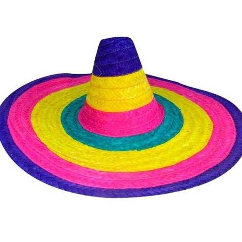 629677872 Gorro Mexicano Bandas Multicolor Cotill¢n Disfraz Halloween