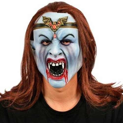 b7af3c01b Máscara De Látex Mujer Vampiro Disfraz Halloween Upd Egresad