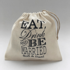 "Bolsitas ""Eat, drink and be married"" x 100 unidades"