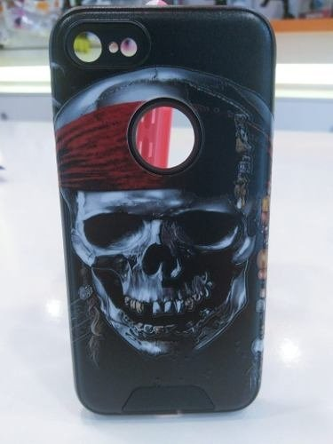 Funda Tpu Reforzada Para Iphone 7 Plus Calavera + Vidrio en internet