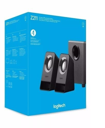 Parlante Logitech Z211 Usb Powered Speaker 2.1 Subwoofer Gta - tienda online