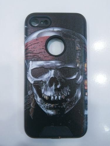 Funda Tpu Soft Reforzada Para Iphone 7 Plus Calavera
