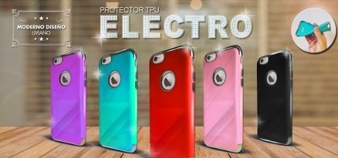 Funda Electro Tpu Iphone 6, 6plus, Iphone 7, 7plus +templado