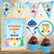 Kit imprimible Baby Shark Decoración Candy Bar Cumpleaños