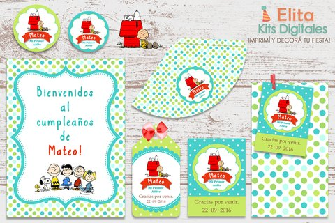 Kit Imprimible Snoopy y Charlie Brown - comprar online