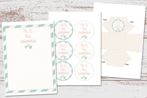 Kit Imprimible Shabby Chic Romántico - Kits Imprimibles - Elita Kits Digitales