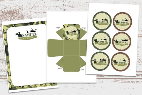 Kit Imprimible Soldado Militar Camuflado - Kits Imprimibles - Elita Kits Digitales