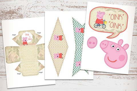 Kit Imprimible Peppa Pig Vintage en internet