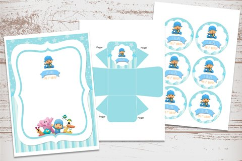 Kit Imprimible Pocoyo - Kits Imprimibles - Elita Kits Digitales