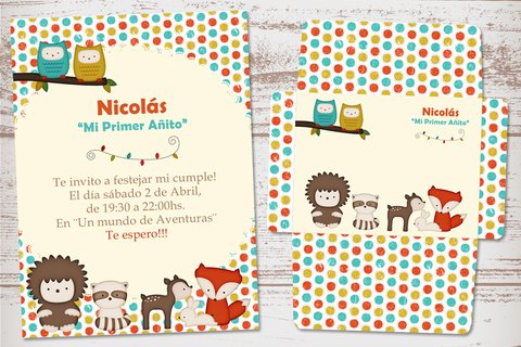 Kit Imprimible Animalitos del Bosque - tienda online