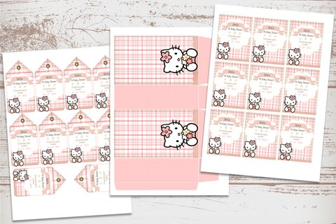 Imagen de Kit Imprimible Hello Kitty Vintage