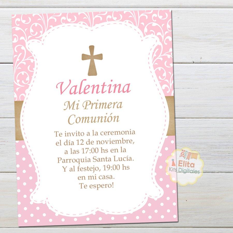 Kit Imprimible Cruz Comunión Confirmación Nena Decoración