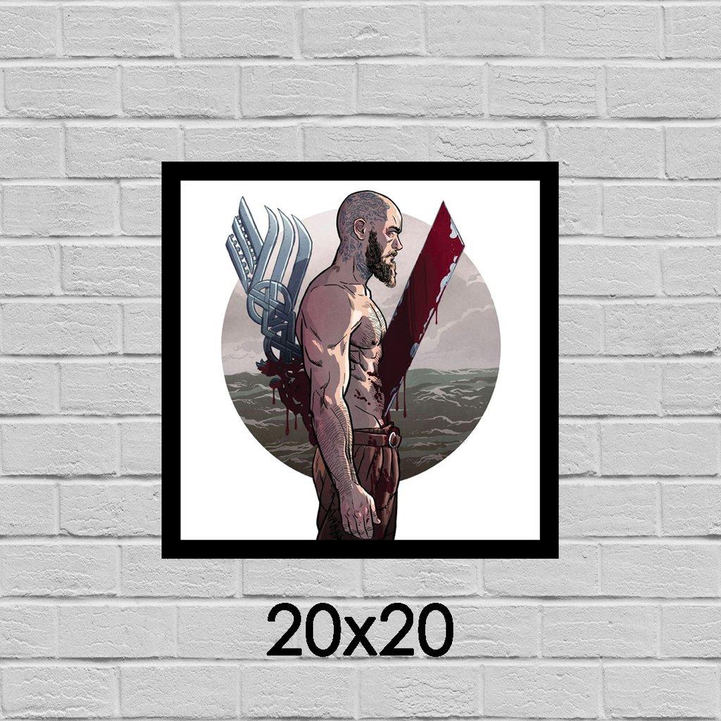 Placa Decorativa Ragnar Vikings Zoom Store