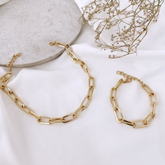KIT CHOKER + PULSEIR CORRENTARIA JULIA - DOURADO