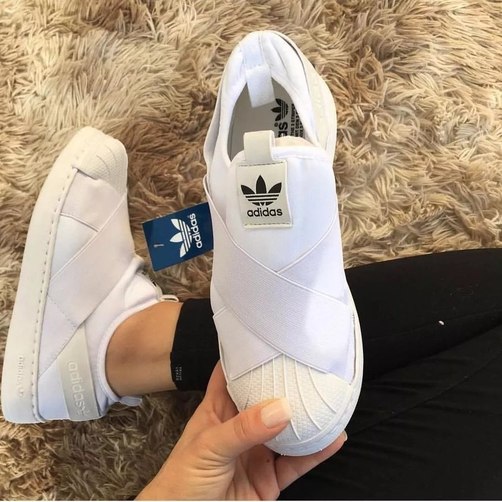 a3725d209 Tênis Adidas SuperStar Slip-On White - Oh,Céus!