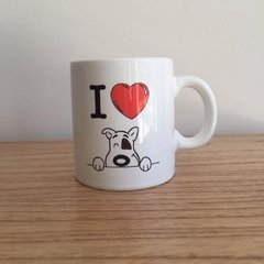 "Taza ""I love my dog"" en internet"