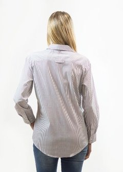 Polo Club, Camisa, Manga Larga, Dama, London, Rayada - comprar online