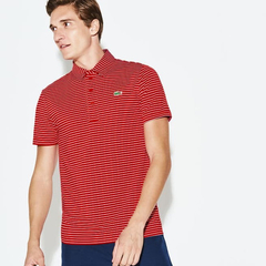 Chomba Lacoste Sport Hombre Rayada Dh3358 Roja - comprar online