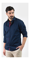 Camisa Oxford Polo Club Manga Larga Hombre Gentil Navy