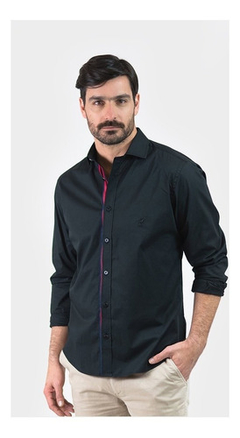 Camisa Oxford Polo Club Manga Larga Hombre Gentil Black