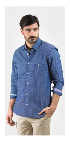 Camisa Oxford Polo Club Manga Larga Hombre Chart Ayc
