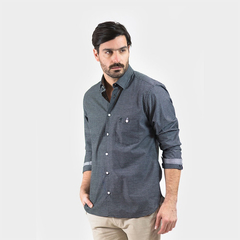Camisa Oxford Polo Club Manga Larga Hombre Chart Nyg