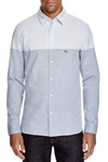 Lacoste Camisa Hombre Bicolor Manga Larga Ch2769