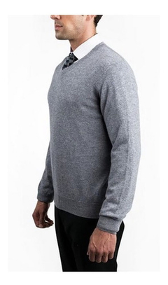 Sweater Hombre Polo Club Escote En V Jaguard Grey
