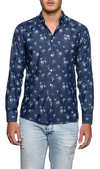 Camisa Bosnia Denim Key Biscayne Flores Machop