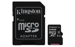 Memoria Micro Sd Kingston 64Gb Canvas - comprar online